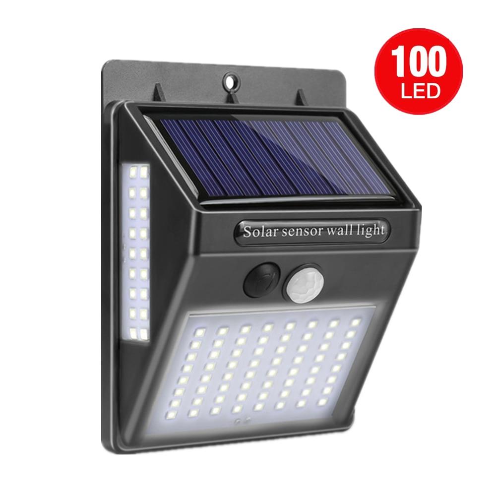 SUPLO 100 LED Solar Light Outdoor Solar Lamp PIR Motion Sensor Waterproof Wall Light Solar Energy Sunlight For Garden Decoration
