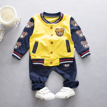 цена на 2020 Spring Autumn Children Fashion Clothes Baby Boy Girl Cartoon Jacket Pants 2Pcs/sets Kids Infant Clothing Toddler Tracksuit