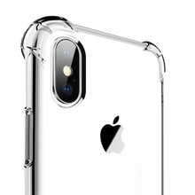Caso de Telefone claro Para iPhone Caso Do iPhone X Caso 7 Silicone Macio Tampa Traseira Transparente Para iPhone XR XS Max 7 8 6 5S 6s Plus Caso(China)