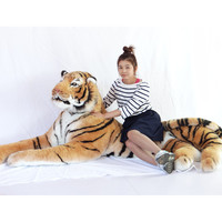 [Funny] Simulation 220cm Large Domineering Animal Amazing Realistic Tiger Plush Toy Collection Photography props Home decoration