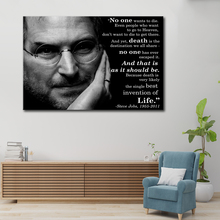 Steve Jobs poster, Your time is limited 1 spell HD print canvas poster advanced home decoration