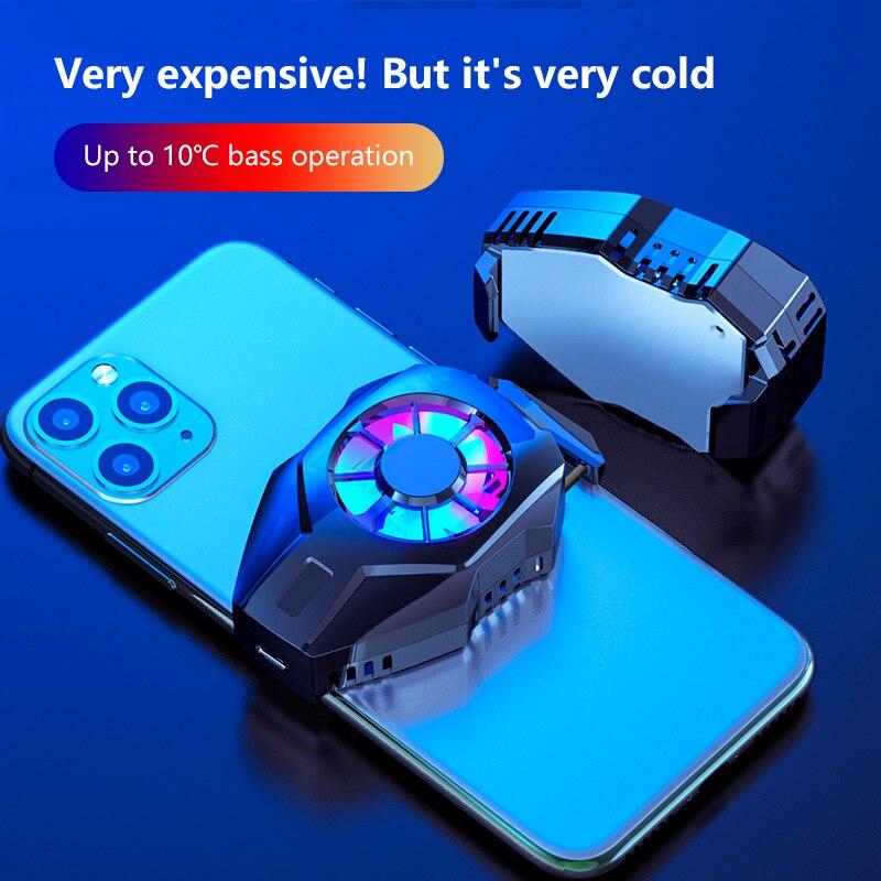 Портативный мобильный телефон, охлаждающий вентилятор, держатель геймпада для IPhone, Huawei, Xiaomi, планшета, USB зарядка, 2020