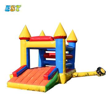 Ogród Yard nadmuchiwany bramkarz trampolina dzieci skok łóżko dzieci nadmuchiwany zabawkowy zamek tanie i dobre opinie STELVIO CN (pochodzenie) Nadmuchiwana zjeżdżalnia 3 years old As the picture 3 5x3m Include 0 55mm PVC tarpaulin Indoor or outdoor