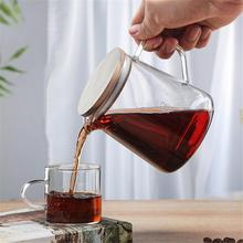 300/500ML Heat Resistant Clear Glass Teapot Jug With Lid Coffee Tea Flower Milk Juice Container For Kitchen