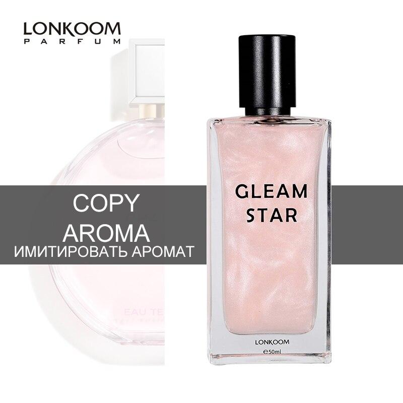 LONKOOM Marke frauen parfüm probe 1,8 ml GLEAM STERN EDT rosa shinny duft floral-fruchtig düfte