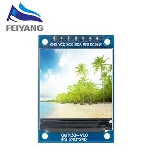 Image 2 - TFT ekran 0.96 / 1.3 1.44 inç IPS 7P SPI HD 65K tam renkli LCD modülü ST7735 sürücü IC 80*160 (OLED) arduino için