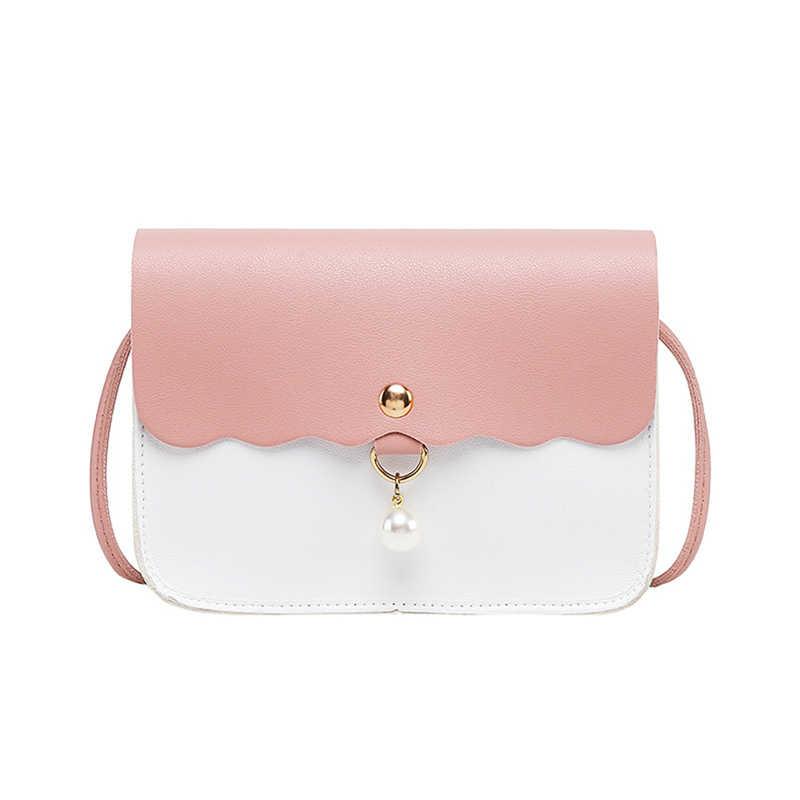 Bolso cruzado pequeño para mujer de tendencia de moda 2020, bolso de hombro  de cuero de PU elegante con decoración de perlas, bolsos pequeños para  mujeres y niñas| | - AliExpress