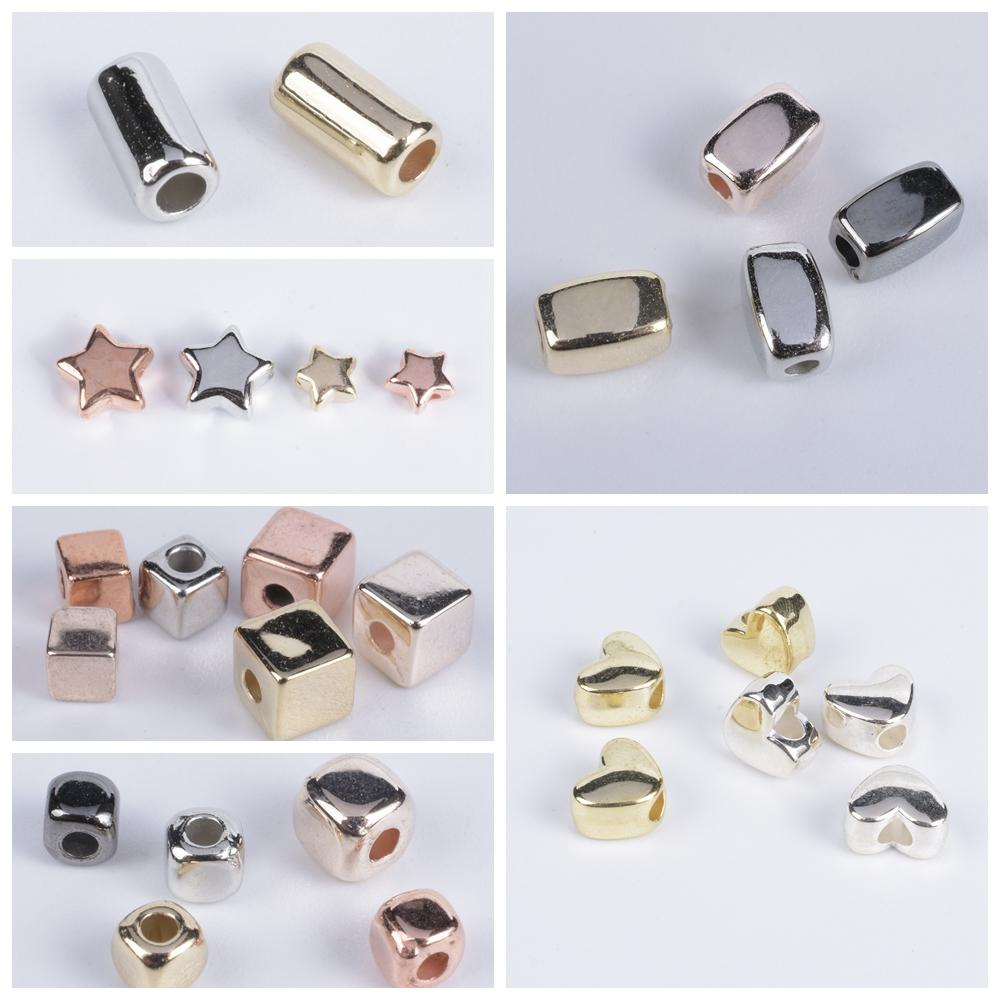Tube Spacer-Bead Necklace-Accessories Jewelry Making-Supplies Diy Bracelet Square Star