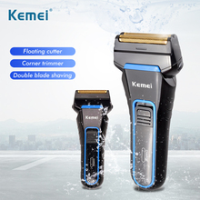Kemei 2 Blades Electric Razor Electric Shavers for Men Recha