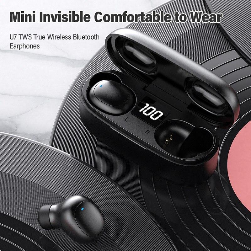Image 4 - TOPK Mini Bluetooth Earphone HD Stereo Wireless Headphones gaming In ear sport headset With Mic Charging Box for smartphoneBluetooth Earphones & Headphones   -
