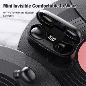 Image 4 - Topk mini fone de ouvido bluetooth hd estéreo sem fio fones de ouvido jogos in ear esporte fone de ouvido com microfone caixa de carregamento para smartphone