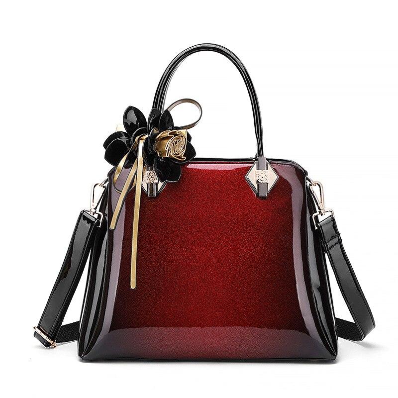 Sac femme marque de mode Designer femmes sacs à main en cuir verni dames sacs à bandoulière fourre-tout décontractés fille fleur sac à bandoulière 2A