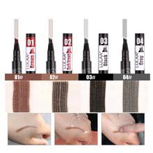 Не выцветающий четырехглавый карандаш для бровей водонепроницаемый жидкий карандаш для бровей долговечный жидкий карандаш для бровей краска для волос ручка
