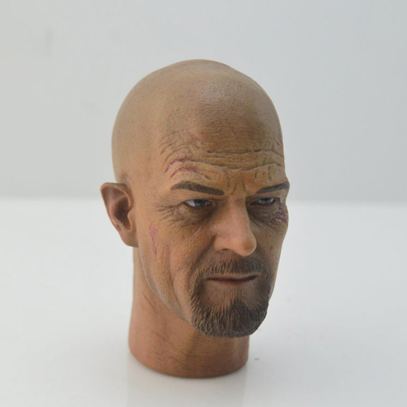 Custom 1/6 Scale Drug Dealer Walter War damage old man male grandpa Version Head Sculpt Headplay for HT 12 Action Figure Body image