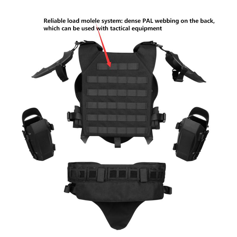 Image 5 - Tactical Lightweight Army Armor Gears Set Outdoor Multi function Adjustable Hunting Elbow Pads Waist Seal For Airsoft PaintballHunting Vests   -