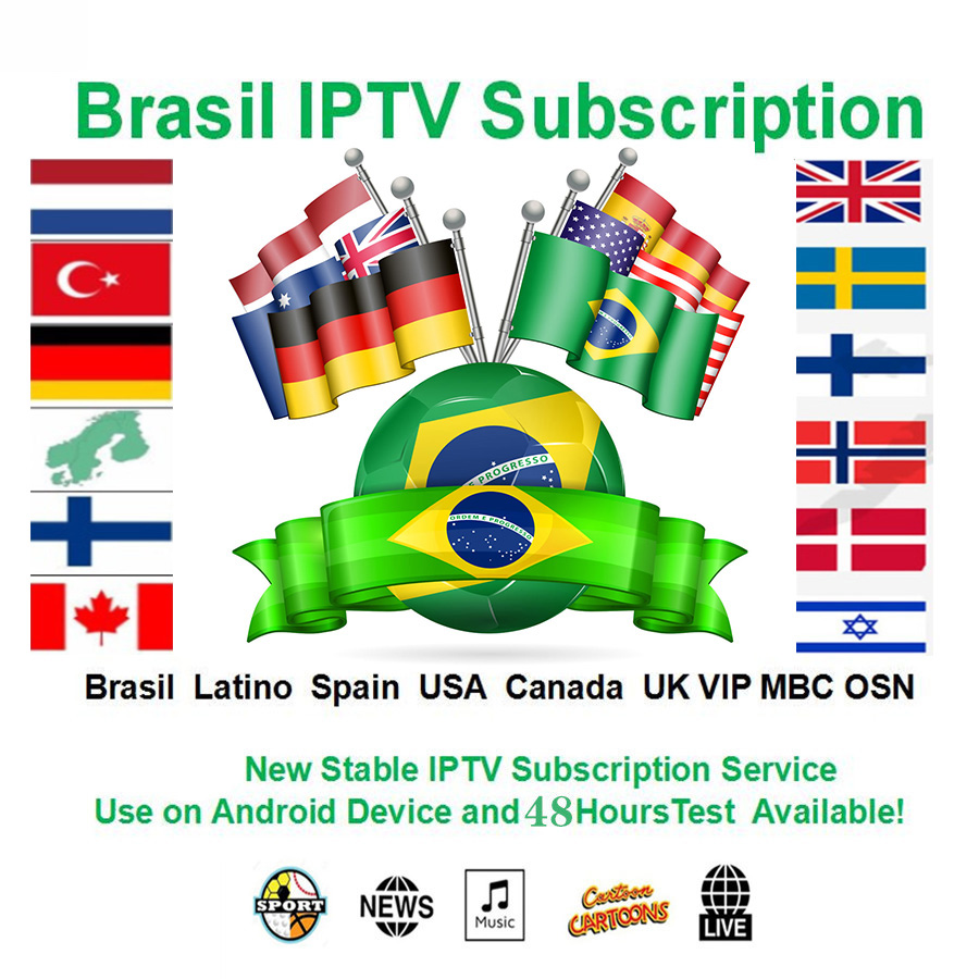 Brazil IPTV 7500+ Live Channels And Vod 4k HD Best EUROPE XXX IPTV Arabic Sweden UK USA French America IPTV For M3U Android Apk
