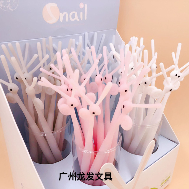 Ellen Brook 1 PCS Cute Kawaii Snails Silicone Gel Pen Office School Supplies Stationery Creative Sweet Pretty Lovely