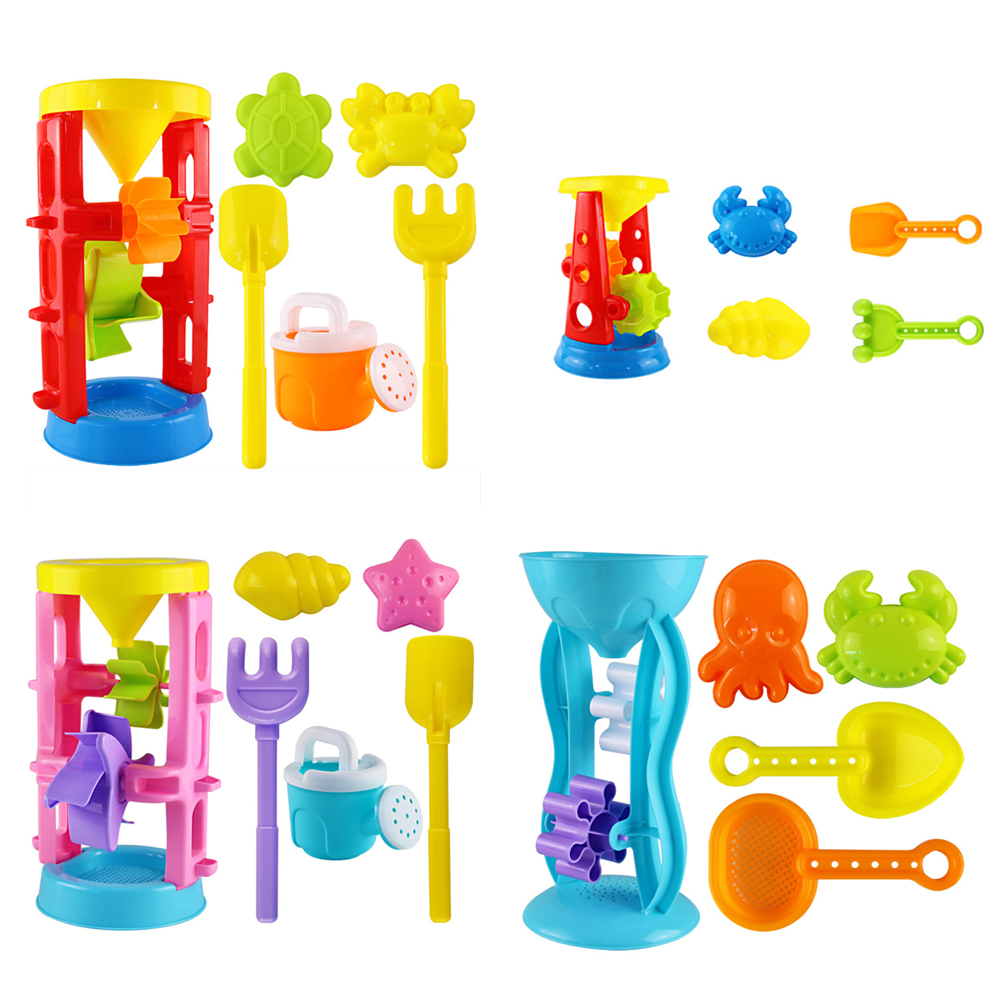 Sandbox Seaside Shovel Toys Double Wheel Hourglass Shove Animals For Children Summer Funny Water Beach Sand Play Toy