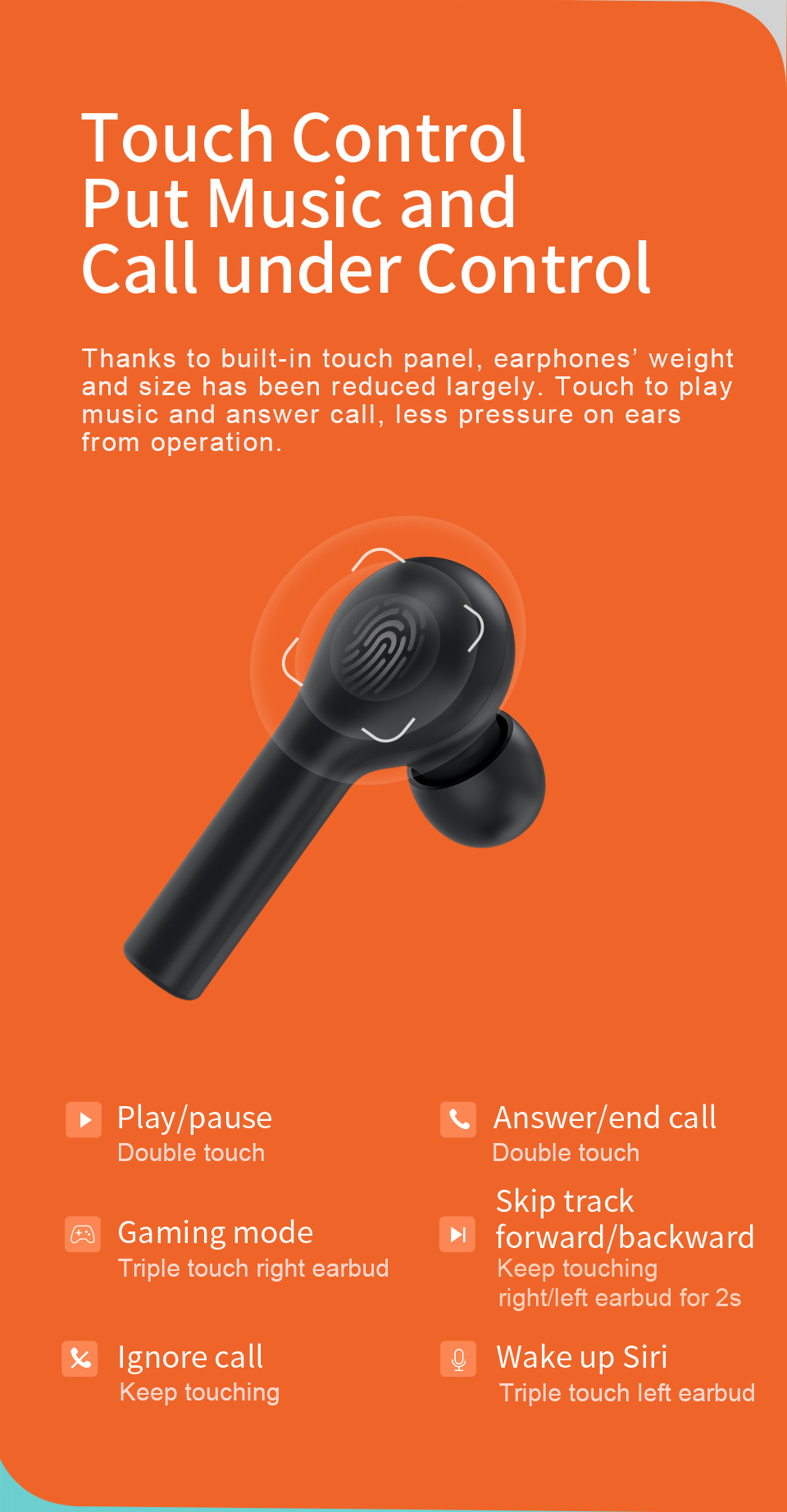 QCY T5 Wireless Bluetooth Earbuds 8