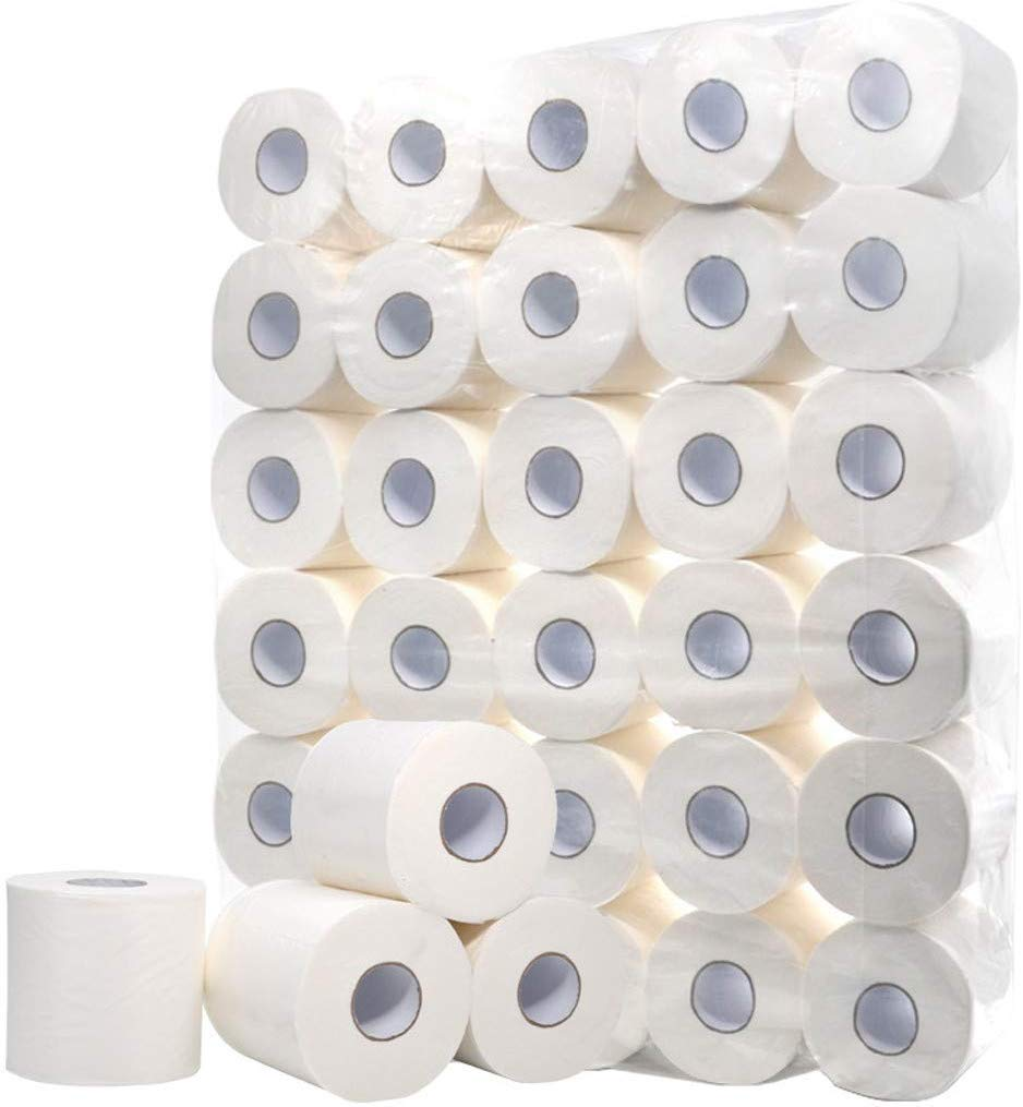 Ultra Soft White Toilet Paper,Family Safe Eco Friendly Toilet Tissue Roll Pack, 10 Rolls Paper Towels Tissue Silky & Smooth Soft