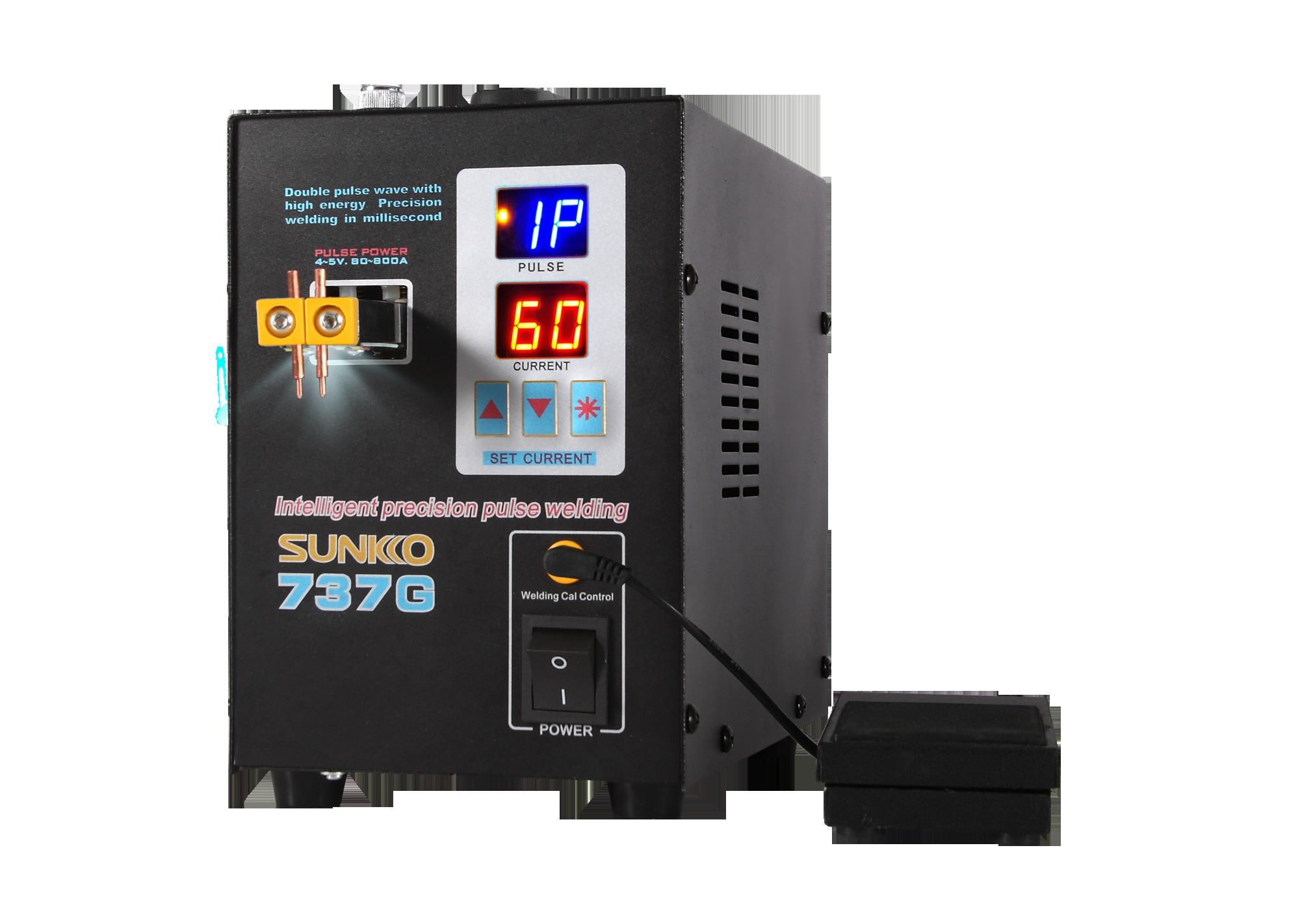 SUNKKO 737G Battery Spot Welder 4 3KW High Power Automatic Spot Welding Machine For 18650 Lithium Batteries Pulse Spot Welders