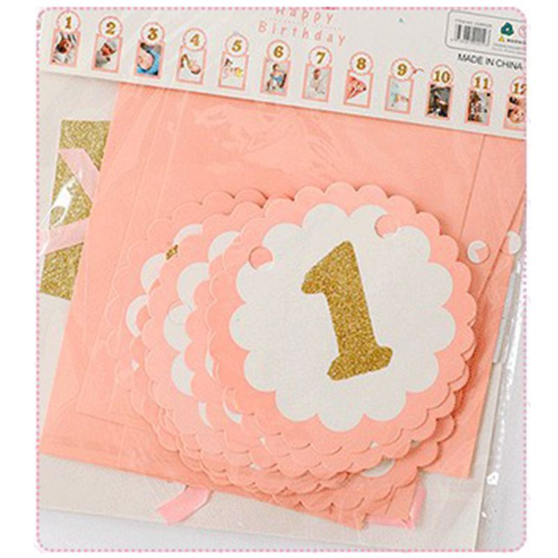1 Set Baby Photography Props Photo Frame 1-12 Months Infants Shower Bathing Birthday Gift For Kids Room Decorations U50F