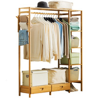 A1 Modern Wardrobe Multifunction Storage Rack Orgnizer Floor Shoe Large Capacity Clothing Hanger Coat Home Furniture