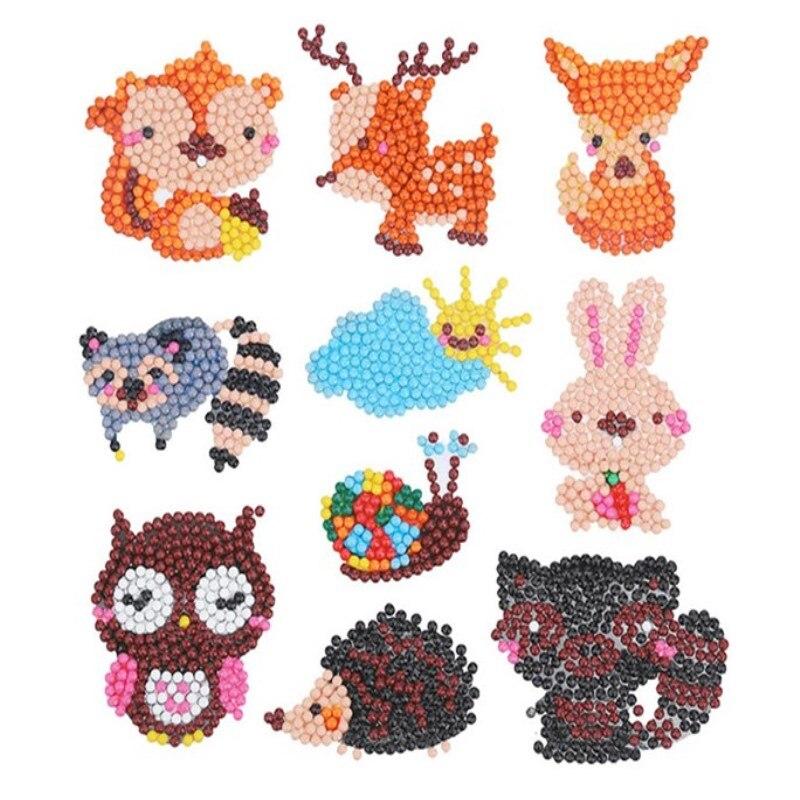 Cartoon DIY Mini Diamond Embroidery Animal Diamond Painting Full Drill Children Toys Round Diamond Sticker Cup Book Phone Decore