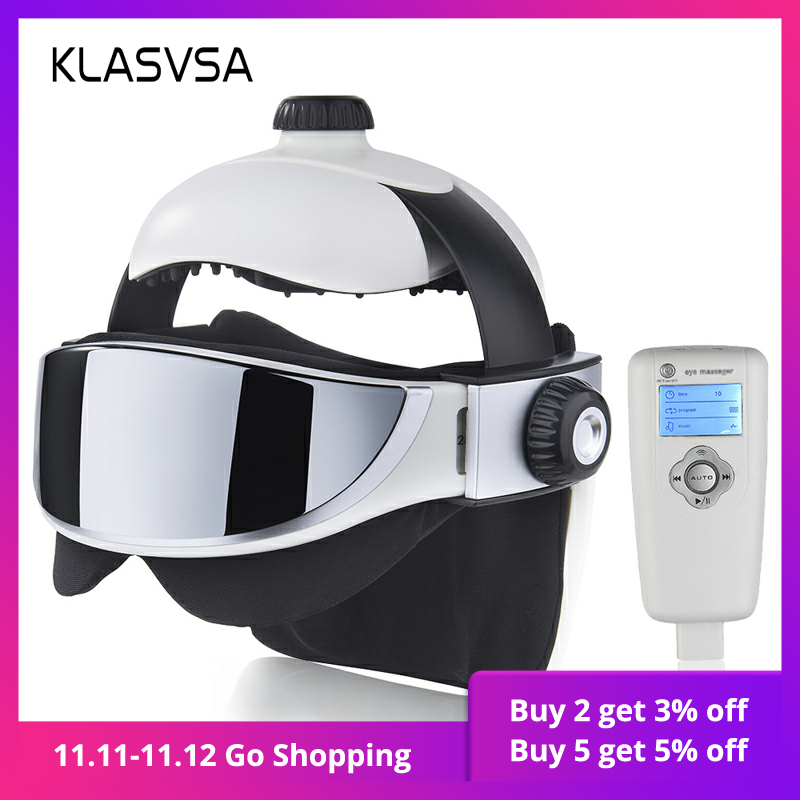 KLASVSA Electric Head Neck Massager Far Infrared Heating Vibration Eye Mask Massage Air Pressure Muscle Stimulator Health Care-in Massage & Relaxation from Beauty & Health