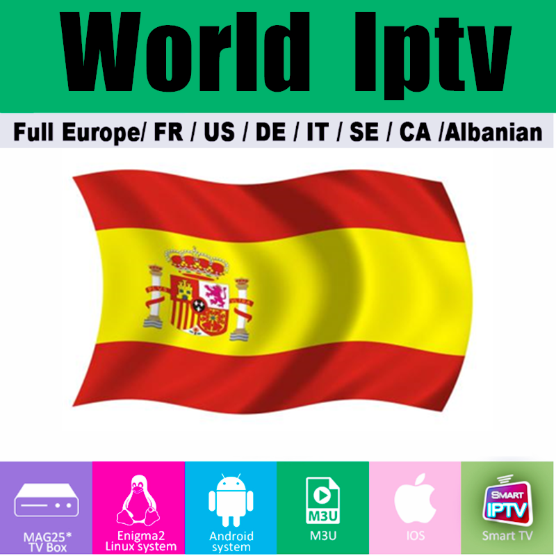 1 Year Spain Iptv Subscription Premium VOD Movie With Adult XXX M3U For IPTV Smarters Android BOX Smart TV IOS Linux Enigma2 VLC
