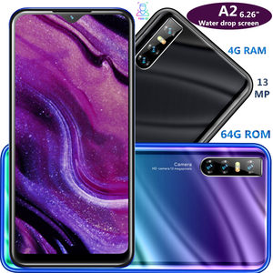 A2 smartphones Water drop screen 6.26inch 4G RAM 64G ROM quad core 13mp Face ID unlocked android mobile phones cheap celulares