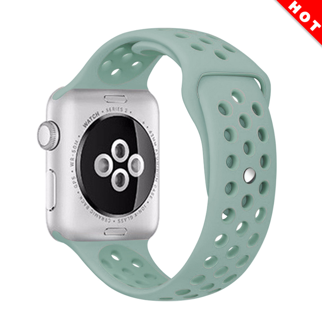 sport Silicone band strap for apple watch nike 42mm 44mm 38mm 40mm bracelet watch watchband For iwatch apple Series 5