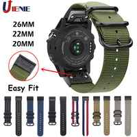 20/22/26mm Nylon Armband Strap für Garmin Fenix 5 5X5 S Plus 6 6s 6x/3 HR/Forerunner 935 Smart Armband Einfach Fit Band Correa