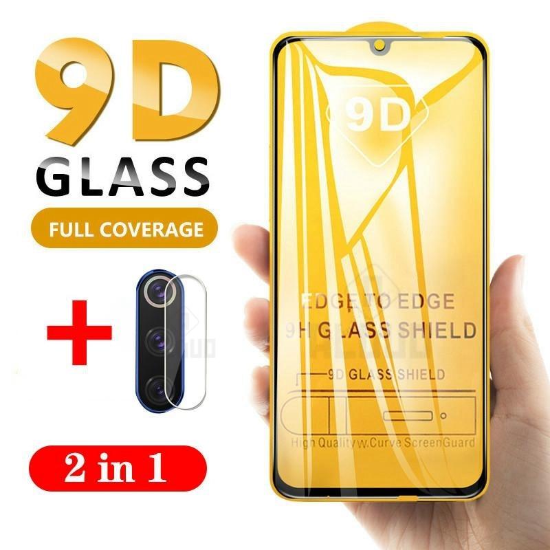 2 in 1 9D Volle Abdeckung Glas Für Xiaomi Redmi Hinweis 9s 8 9 10 pro 8 T 9T Schutz Screen Protector Auf Red mi Hinweis 10pro 8 t Glas 1