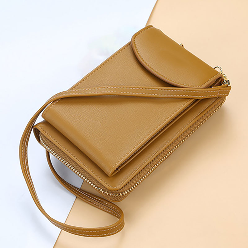 2019 Women Wallet Vertical Crossbody Mobile Phone Wallet Zipper Clutch Wallet