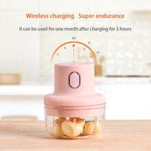 Wireless Electric Garlic Press Mini Meat Grinder Juicer Household Fruit Vegetable Chopper Mixer Food Processor Kitchen Tools