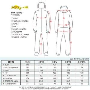 Image 5 - 実行している川ブランド防水ジャケット男性のためのスノーボードスーツ女性スノーボードジャケット男性スノーボードセット服 # B8095