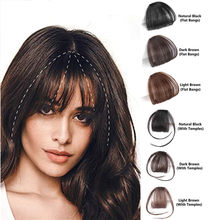 Halo Lady Beauty Clip in Air Bangs 613 cabello humano Rubio flequillo plano flequillo Invisible pelo brasileño no remy reemplazo(China)