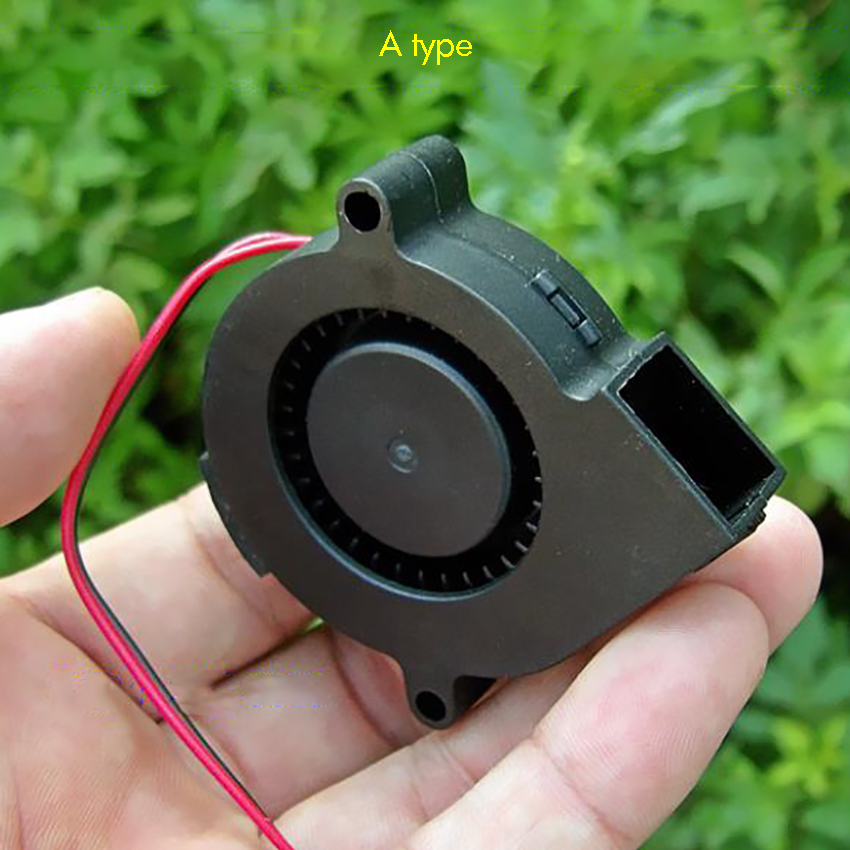 57mm/62mm/80mm Blower Fan DC6V-24V 5015 6028 7530 Air Blower Fan Turbine Turbo Brushless Cooling For DIY 3D Printer Extruder