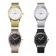 Women Creative Round Dial Watch Fashion Simple Scale Quartz Minimalist Wristwatch