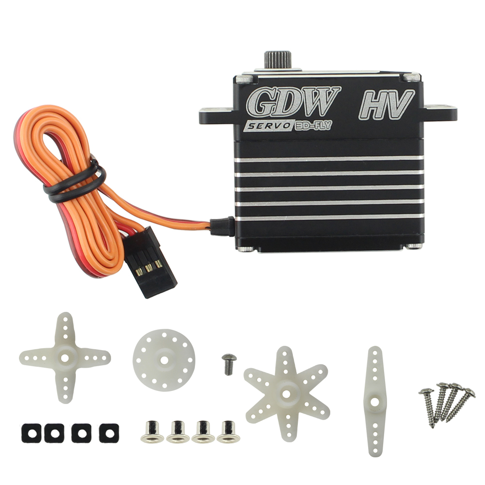 Image 5 - GDW BLS893HV 78g Metal Steering Gear 38kg Maximum Torque Large  Fixed Wing Vehicle Model Robot Steering GearParts