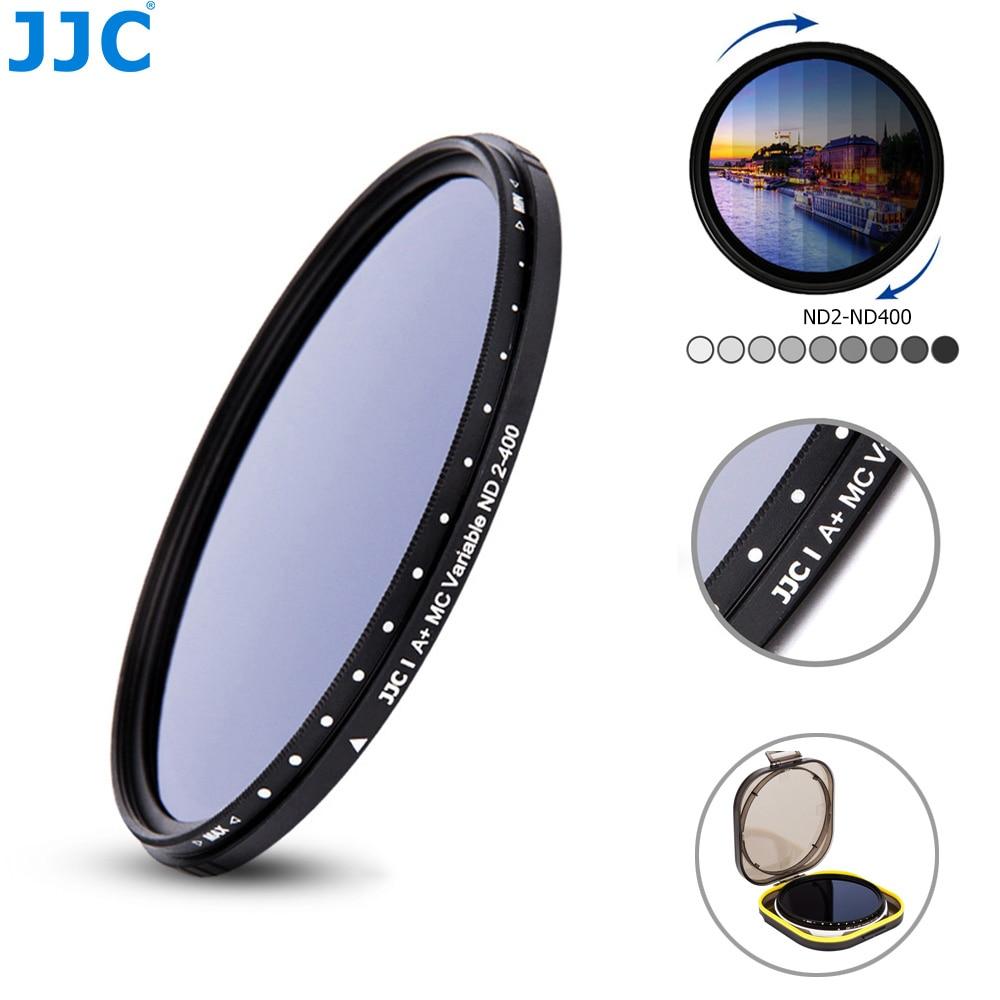 JJC Adjustable Variable Neutral Density ND2 to ND400 Slim Fader ND Lens Filter 49mm 52mm 55mm 58mm 62mm 67mm 72mm 77mm 82mm