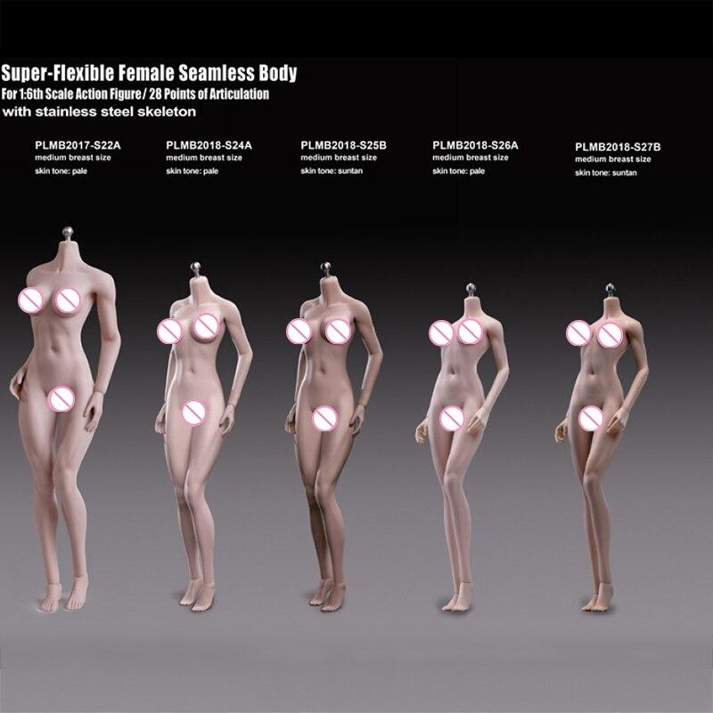 TBLeague Phicen S24A/25B/26A/27B/S22A 1/6 Scale Asian Girl Female Pale&Suntan Medium Bust Seamless Flexible Body Doll 12