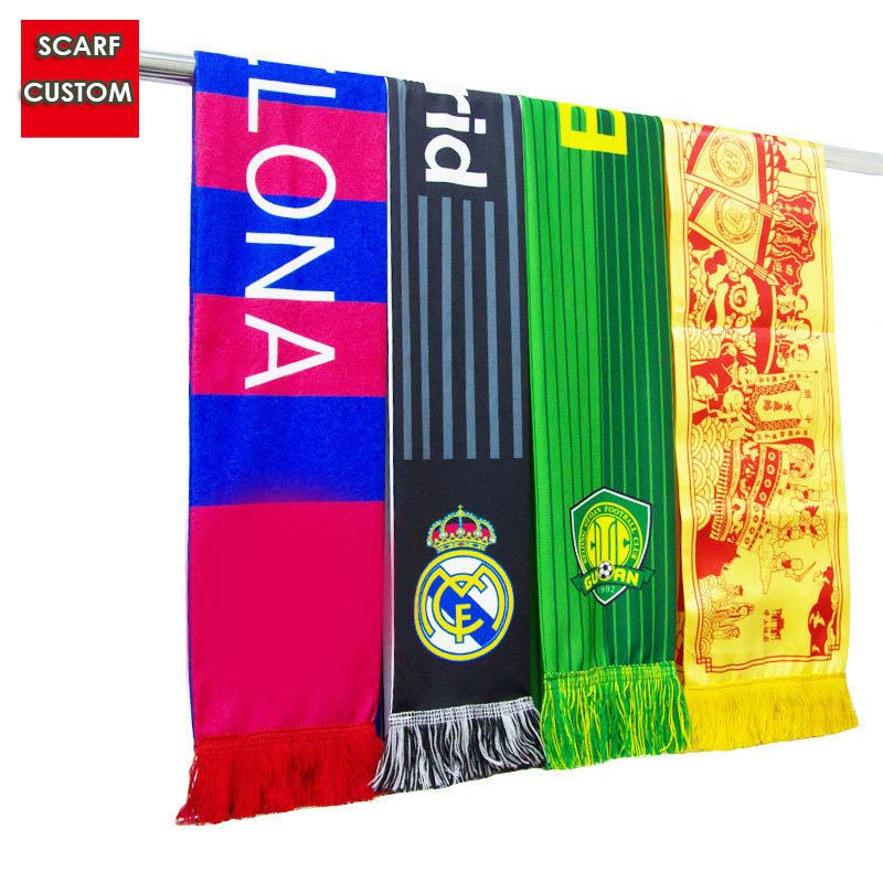 Scarf Satin Souvenir Football Customization Print Club Polyester Fans World-Cup Cheer-Specialized