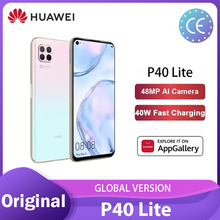 Huawei P40 lite Globale Version 6 + 128GB Smartphone Quad Kamera 48 MP 6.4 ''FHD Bildschirm Kirin 810 octa Core 40W смартфоны телефон