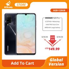 DOOGEE N20 Pro Quad Camera Mobile Phones Helio P60 Octa Core 6GB RAM 128GB ROM Global Version 6 3 #8243 FHD+ Android 10 OS Smartphone tanie tanio Nie odpinany CN (pochodzenie) Rozpoznawania linii papilarnych Rozpoznawania twarzy Do 48 godzin 16MP 4300 Nonsupport Smartfony