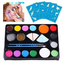 Childrens Makeup Set Non-toxic Washable Body Paint for Halloween Schools Churches Carnivals
