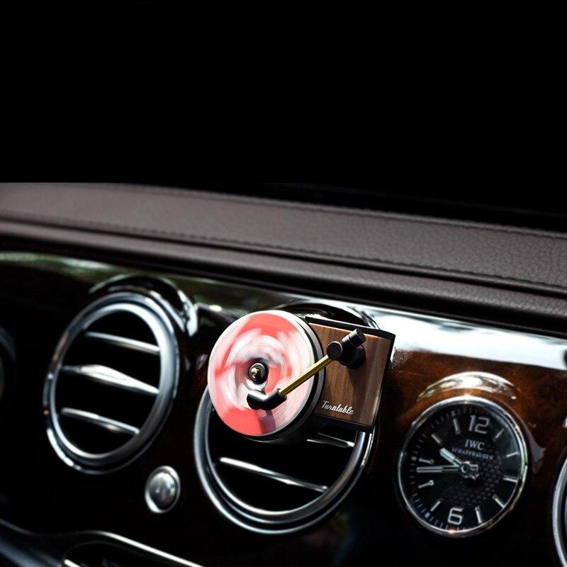 Araba hava spreyi plak çalar araba parfüm fonograf otomatik hava firar klipler iç aksesuarları