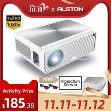 ALSTON Q9 Full HD 1080p projector 4k 6500 Lumens cinema Proyector Beamer HDMI USB AV VGA H96 MAX with gift