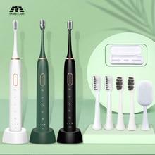 Sonic escova de dentes elétrica 15 modos ultra sônico sem fio recarregável ipx7 à prova dwhitágua clarear escova de dentes elétrica sarmocare